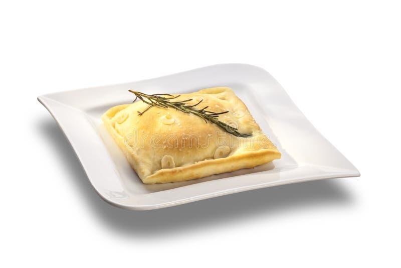 Pane italiano casalingo di focaccia dei rosmarini fotografie stock libere da diritti