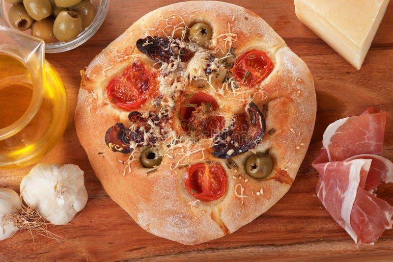 Pane italiano di focaccia fotografia stock libera da diritti