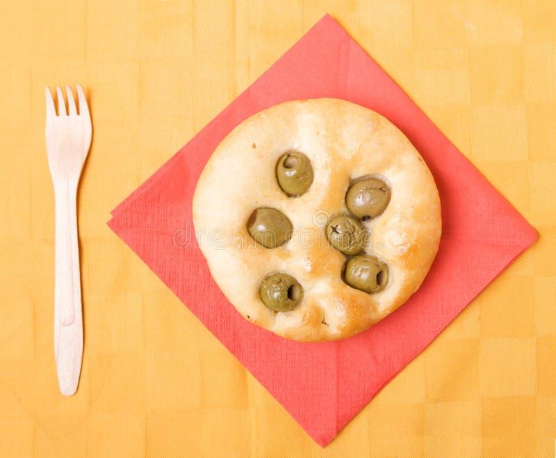 Pane piano con oliva fotografie stock