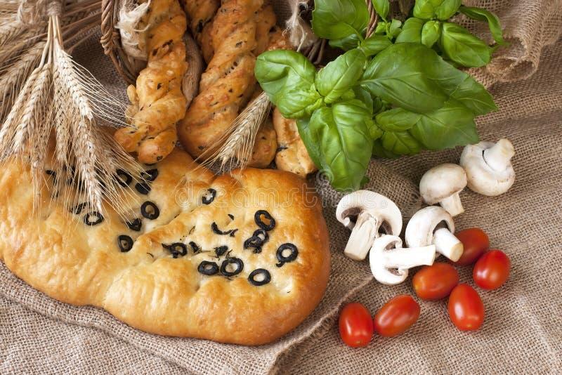 Pane tipico delizioso di focaccia dell'Italia fotografie stock libere da diritti