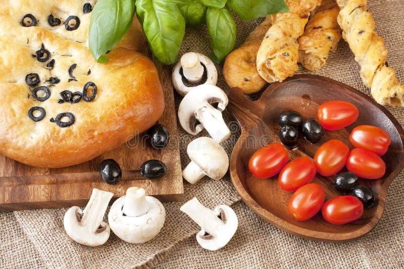 Pane tipico delizioso di focaccia dell'Italia fotografia stock libera da diritti