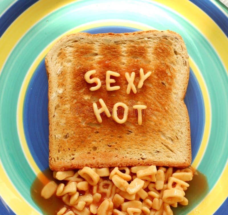 Pane tostato caldo sexy immagini stock libere da diritti