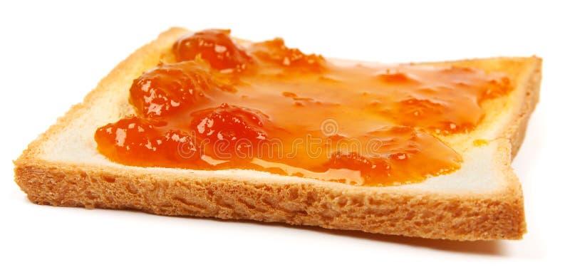 Pane tostato con ostruzione fotografie stock
