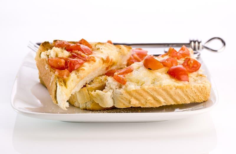 Pane tostato cotto del formaggio fotografie stock