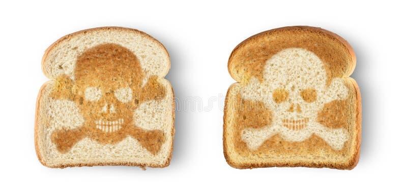 pane tostato del cranio immagine stock libera da diritti