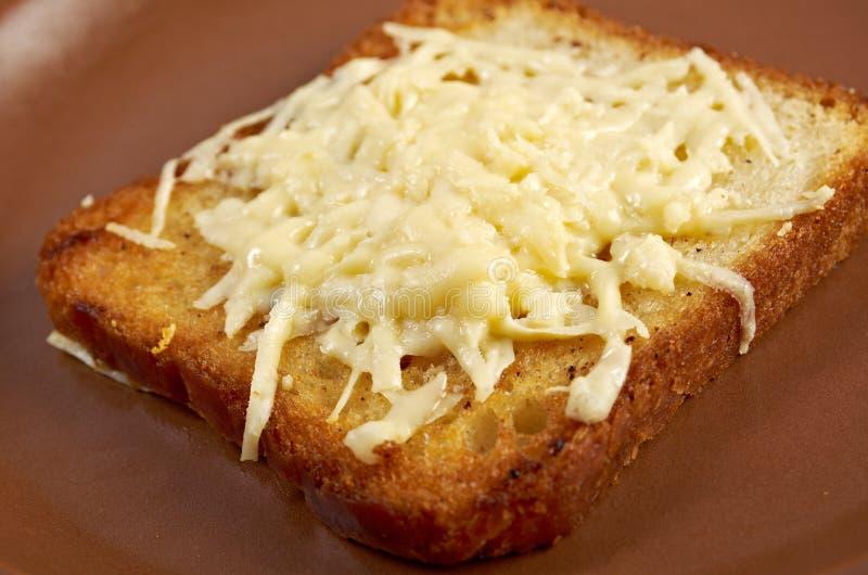 Pane tostato del formaggio immagine stock