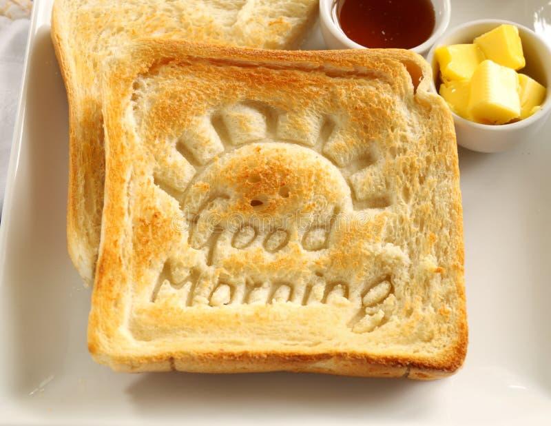Pane tostato di buongiorno fotografia stock