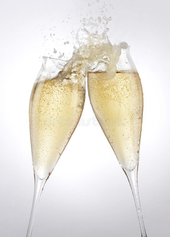 Pane tostato di Champagne fotografie stock