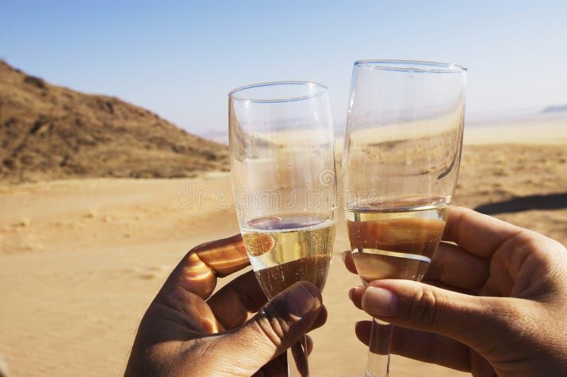 Pane tostato di Champagne immagini stock libere da diritti
