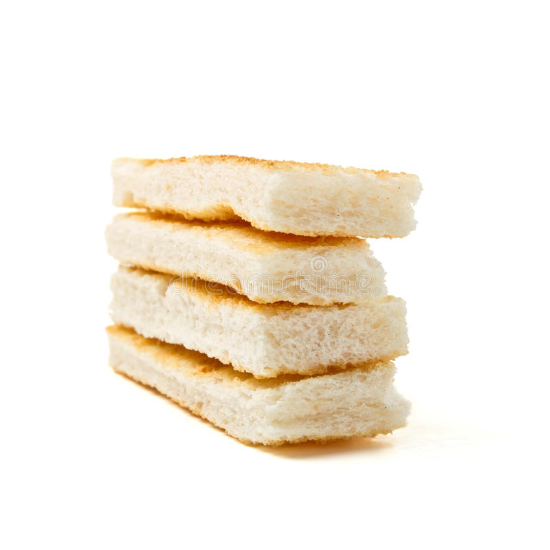 Pane tostato di Melba immagine stock