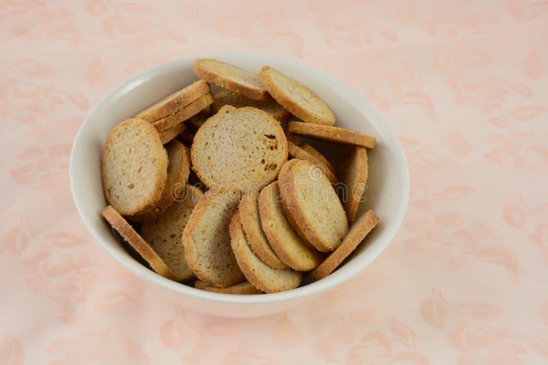 Pane tostato di Melba fotografia stock libera da diritti