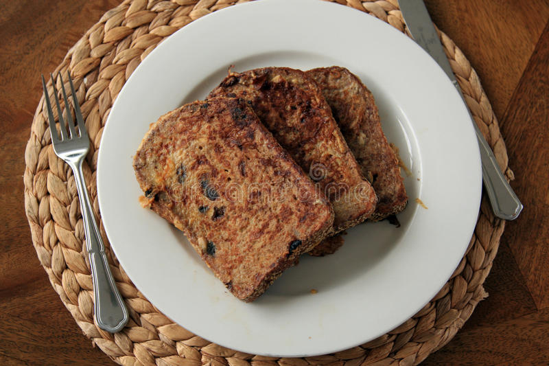Pane tostato francese per la prima colazione immagine stock libera da diritti