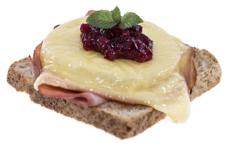 Pane tostato Hawai su bianco fotografie stock libere da diritti