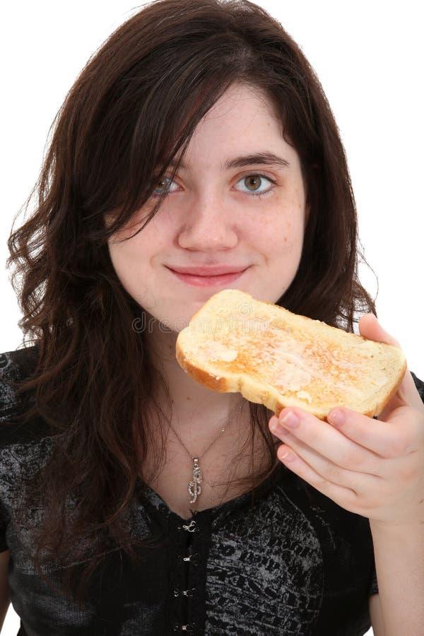 Pane tostato teenager di cibo fotografia stock libera da diritti