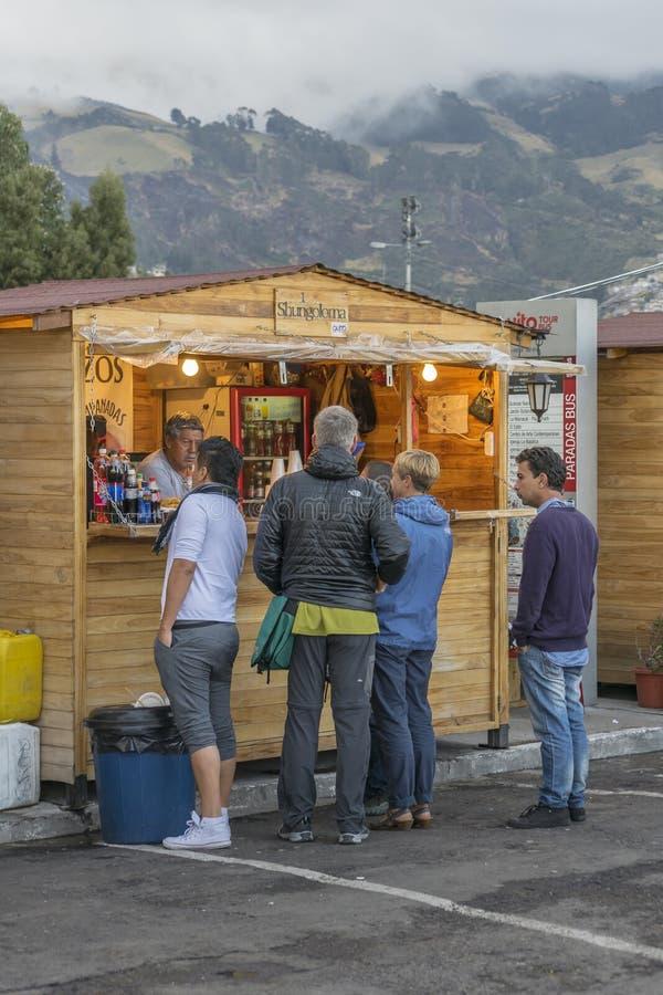 Panecillo jedzenia Uliczny rynek Quito Ekwador fotografia royalty free
