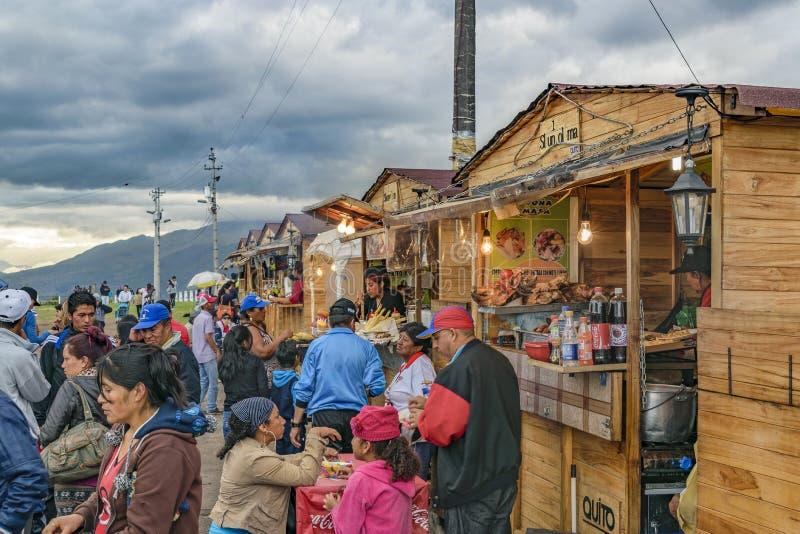 Panecillo Uliczny rynek Quito Ekwador zdjęcie royalty free
