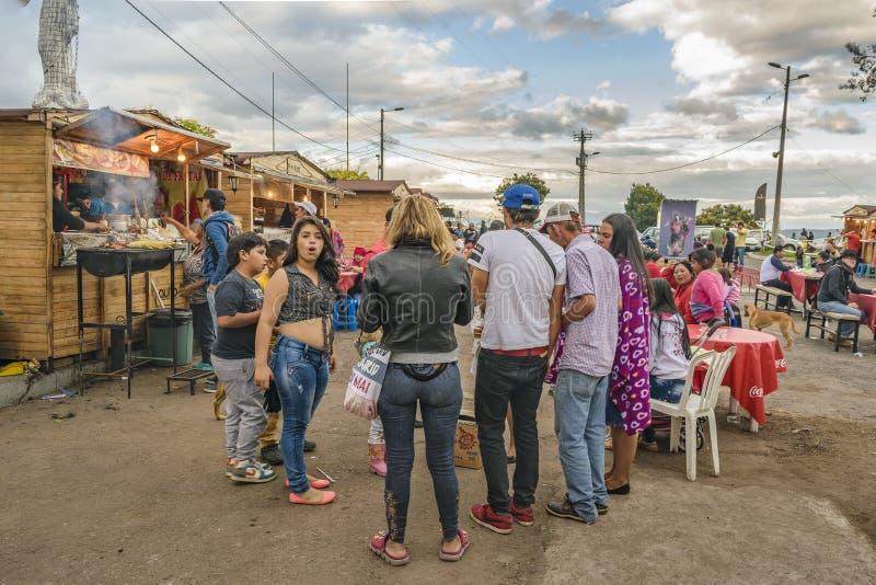 Panecillo Uliczny rynek Quito Ekwador obrazy stock