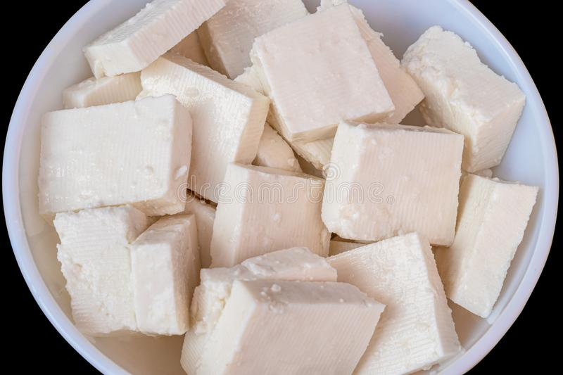 Paneer cottage cheese close up royalty free stock images