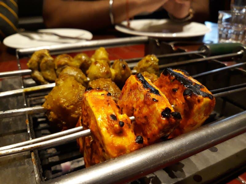 Paneer grill obraz stock