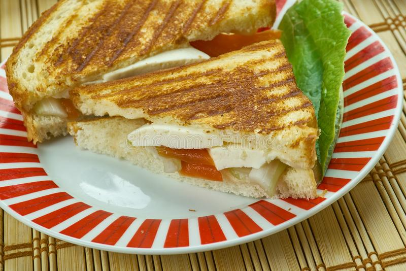 Paneer Sandwich stock photos