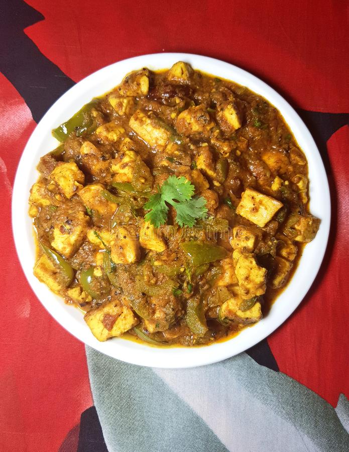 Free Paneer Shimla Mirch Spicy Curry Royalty Free Stock Images - 141379559