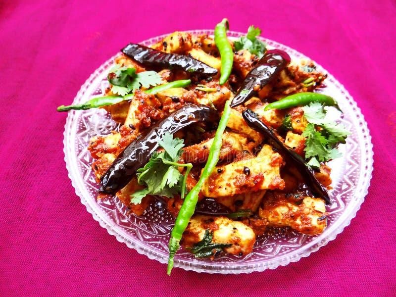 Paneer tandoori tikka masala. Classic and traditional Indian dish royalty free stock photos