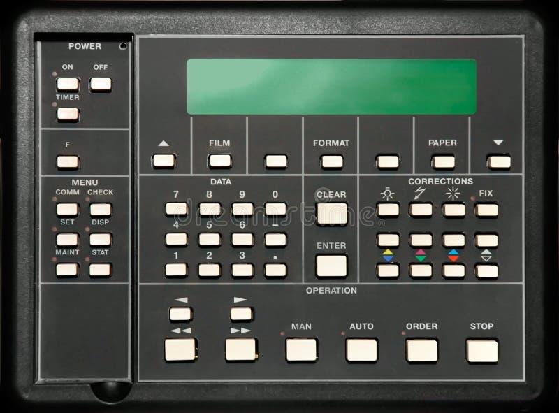 Panel de control  fotografía de archivo libre de regalías