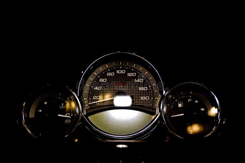 Panel de control de la motocicleta fotografía de archivo libre de regalías