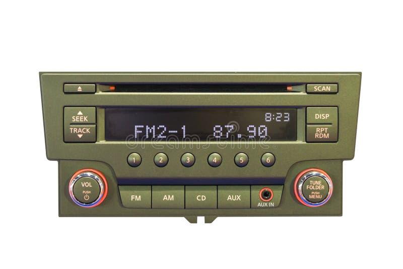 Panel de control de la radio de coche foto de archivo libre de regalías