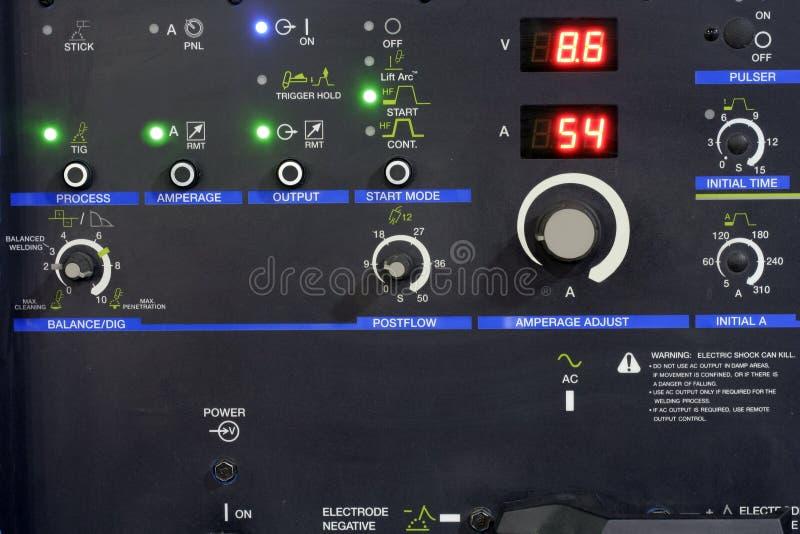 Panel de control de una máquina fotografía de archivo