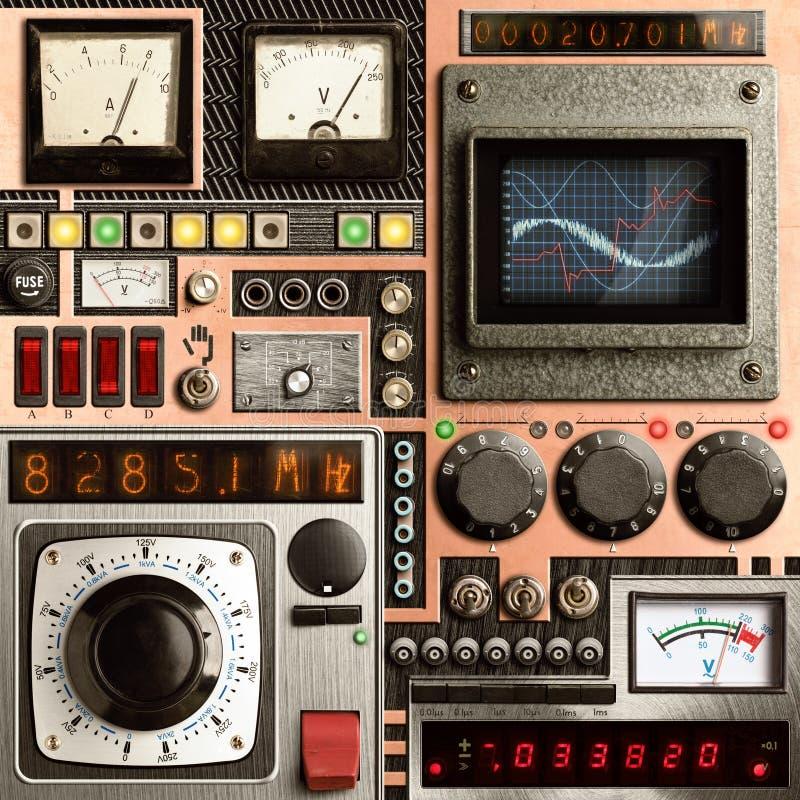 Panel de control de Vinatge foto de archivo