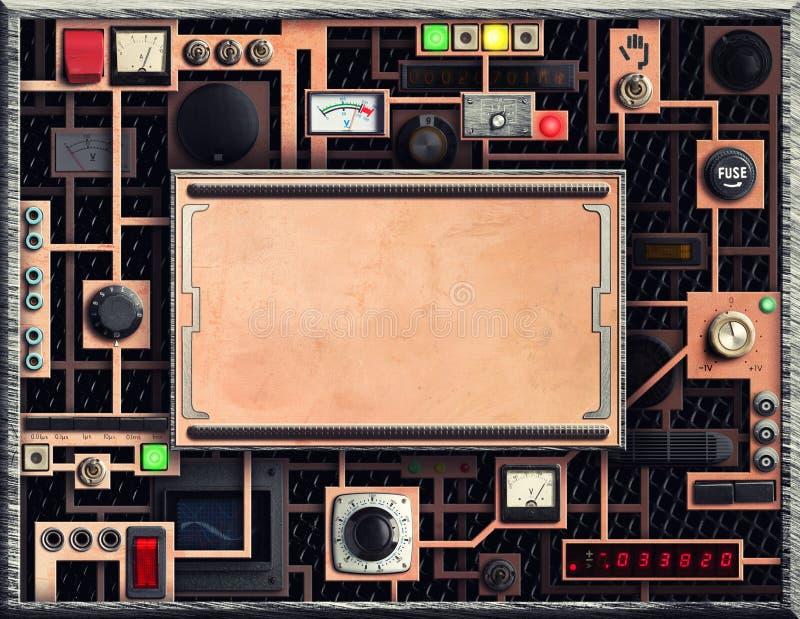 Panel de control de Vinatge imagenes de archivo