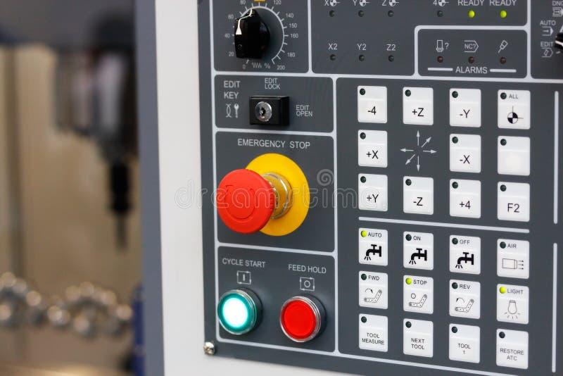 Panel de control del centro que muele del CNC imagen de archivo libre de regalías