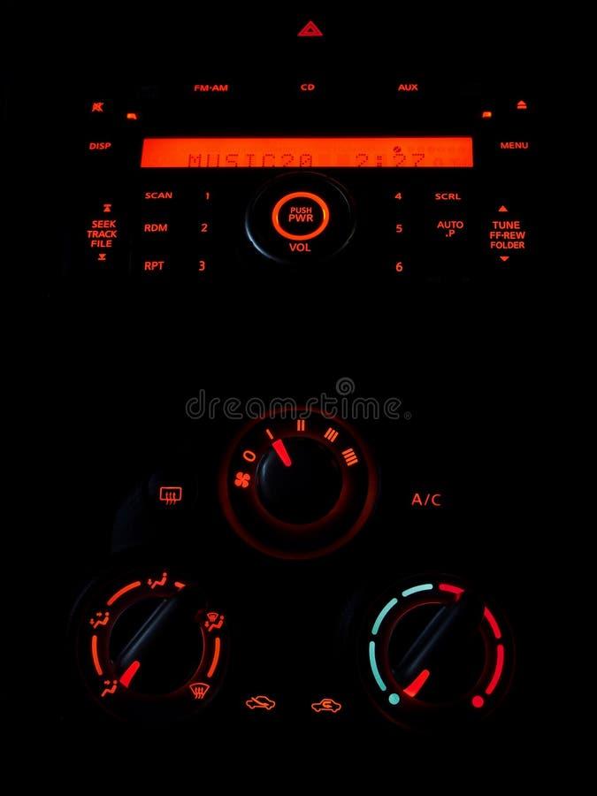 Panel de control del coche imagen de archivo libre de regalías