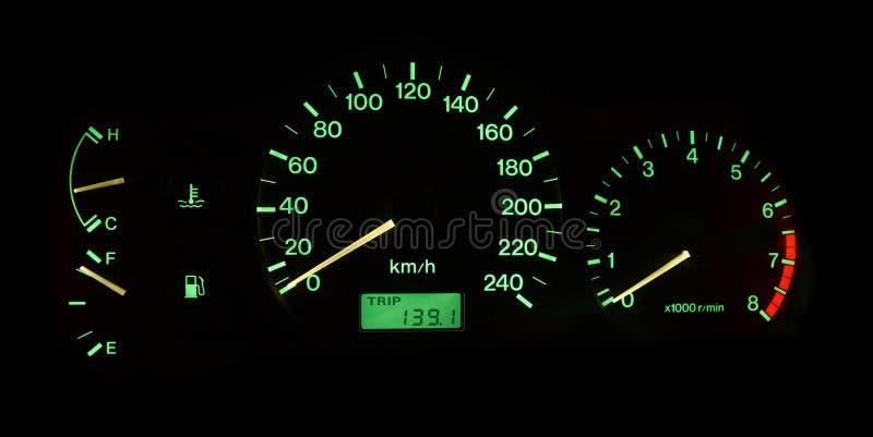 Panel de control del coche imágenes de archivo libres de regalías