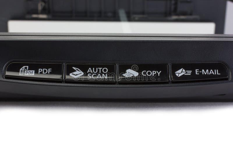 Panel de control del escáner fotografía de archivo libre de regalías