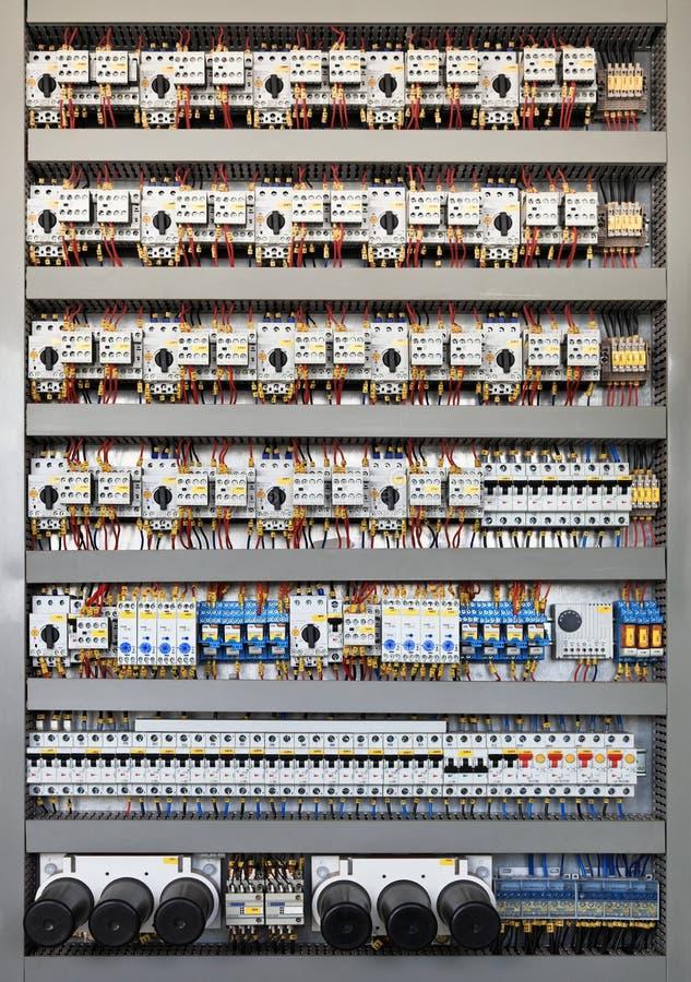 Panel de control eléctrico fotos de archivo libres de regalías