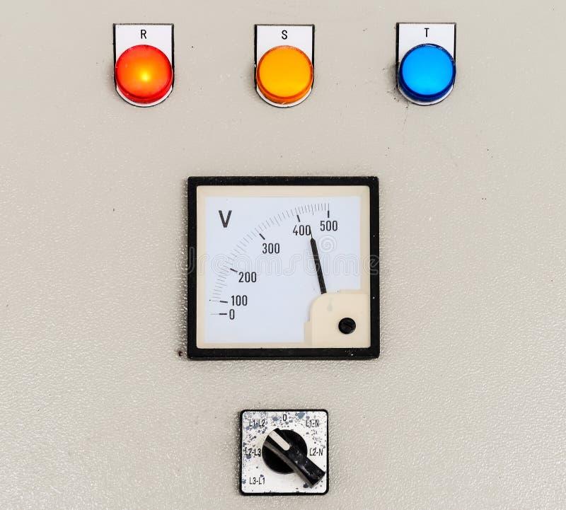 Panel de control eléctrico imagenes de archivo