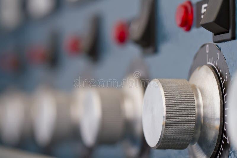 Panel de control en la fábrica imágenes de archivo libres de regalías