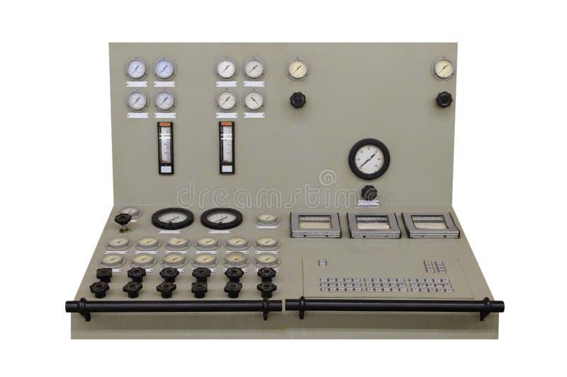 Panel de control industrial aislado en el fondo blanco foto de archivo libre de regalías
