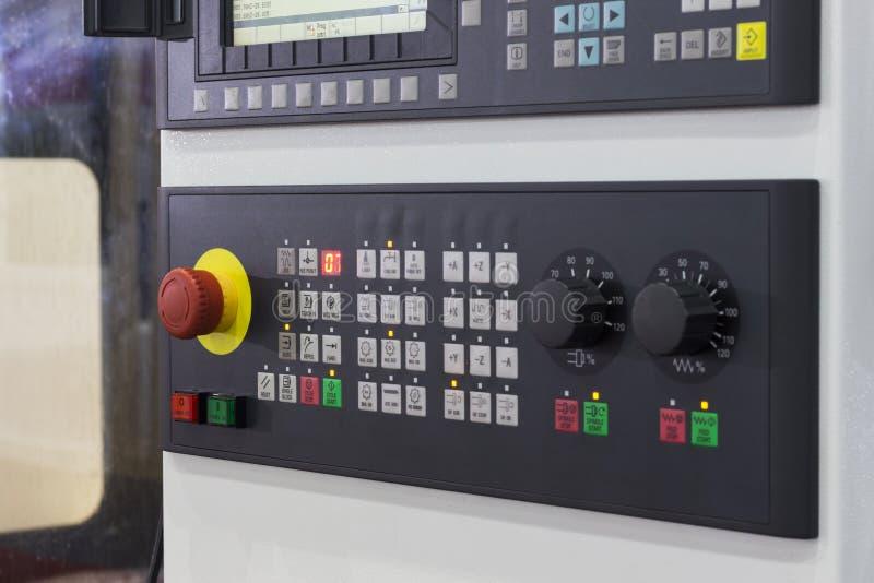 Panel de control de la máquina del CNC imagen de archivo libre de regalías