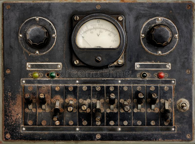 Panel de control muy viejo foto de archivo libre de regalías