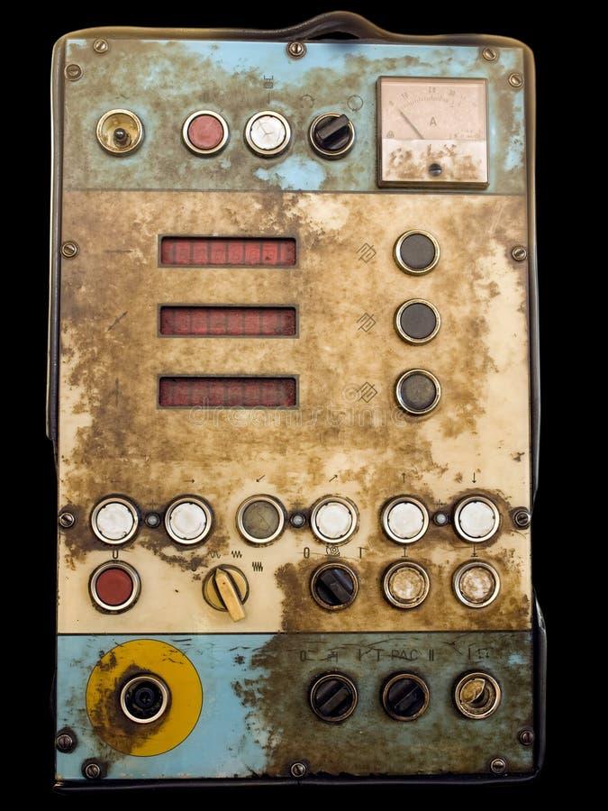 Panel de control retro imagen de archivo