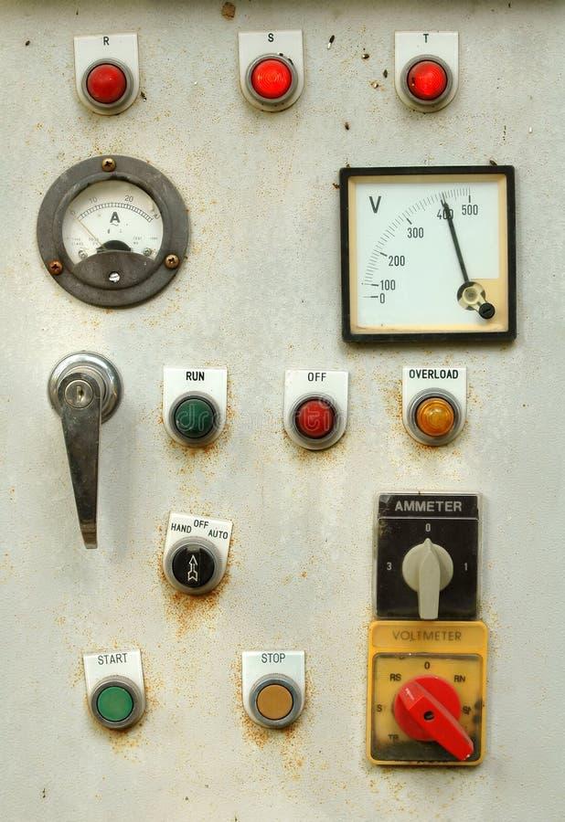 Panel de control viejo fotografía de archivo