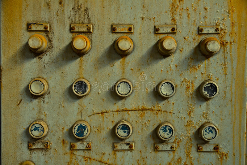 Panel de control viejo imagenes de archivo
