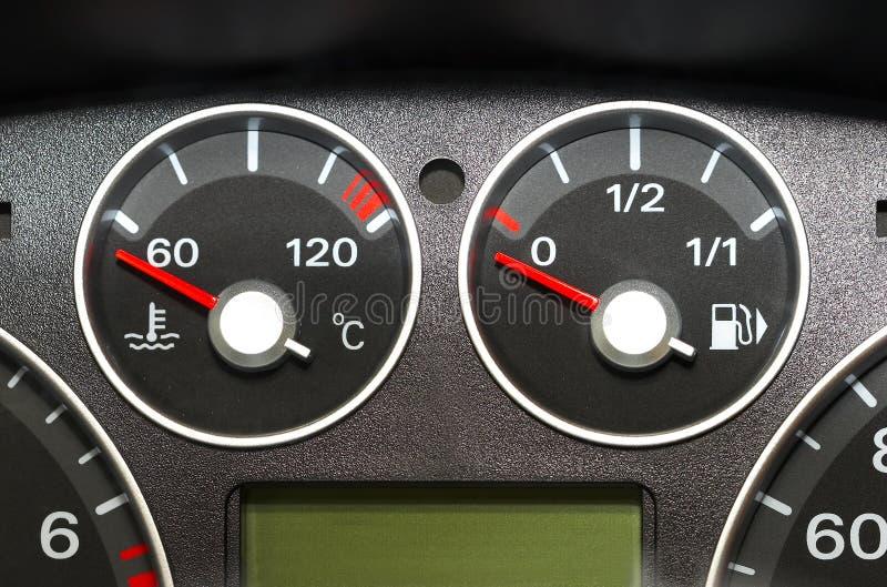 Panel de instrumentos de del coche fotos de archivo