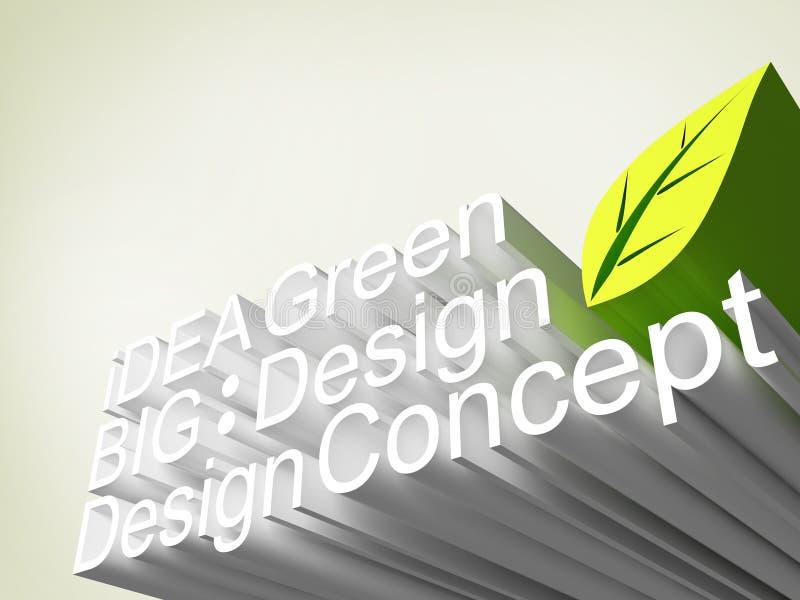 Panel des Schrifttyps 3d, Ideenkonzept lizenzfreie abbildung