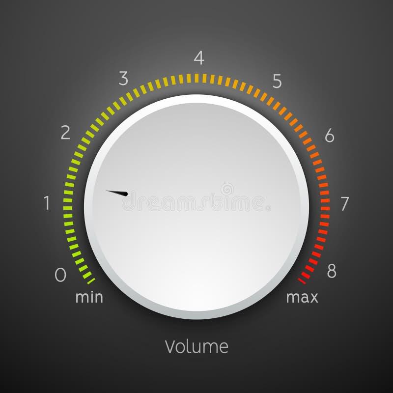 Panel f?r symbol f?r knopp f?r volymmusikkontroll Ljudsignal knoppbest?ndsdelman?verenhet stock illustrationer