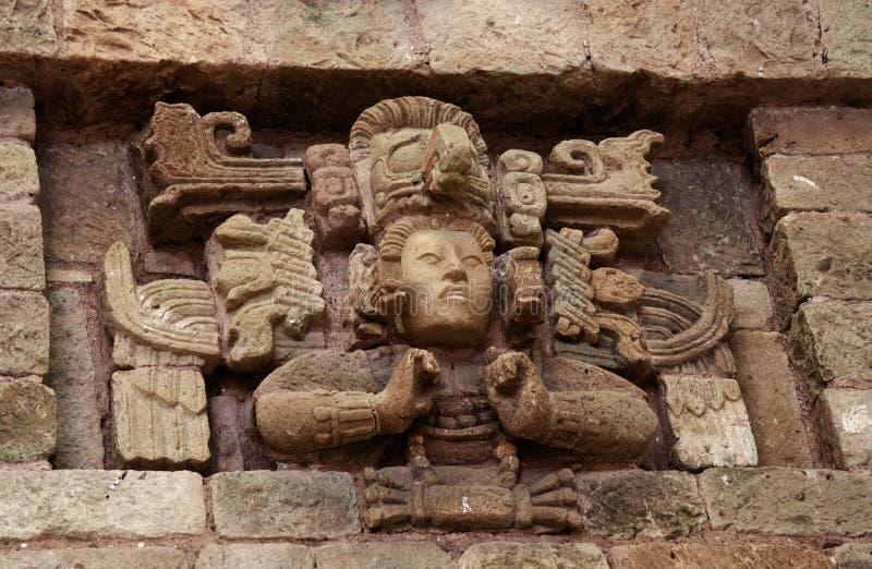 Panel från fasaden, Copà ¡ n, Honduras royaltyfria foton