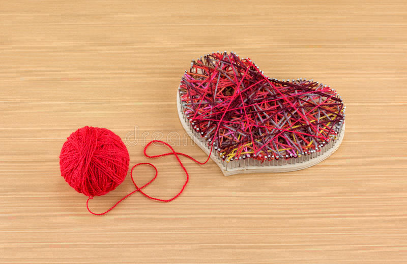 Panel Heart in style String Art royalty free stock photos
